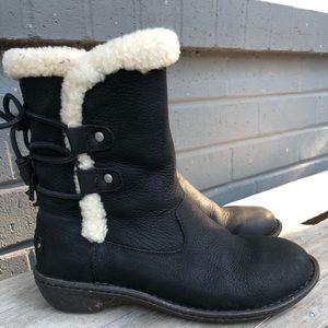 UGG Akadia Genuine Sheepskin Lace-Up Boot